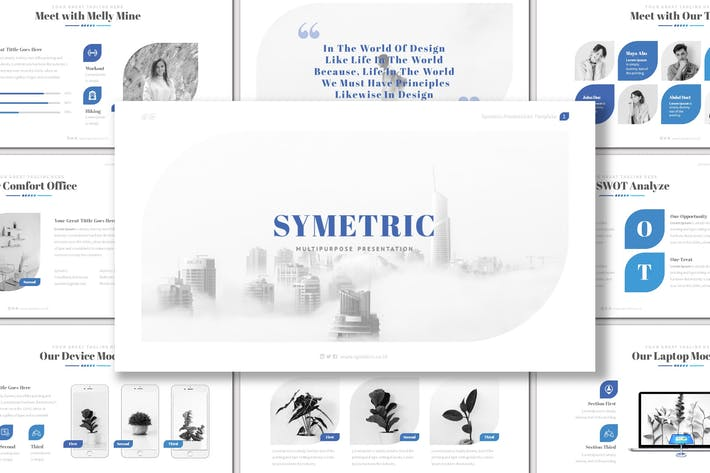 Thumbnail for Symetric - Keynote Template