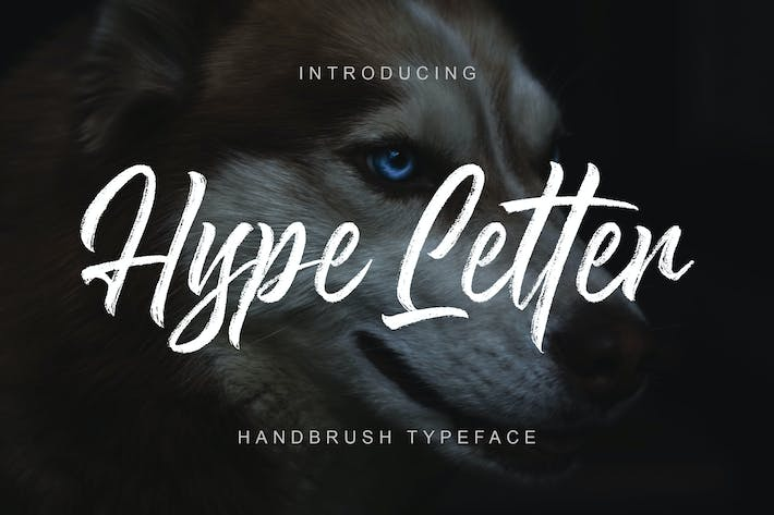 Thumbnail for Hype Letter - Handbrush Typeface