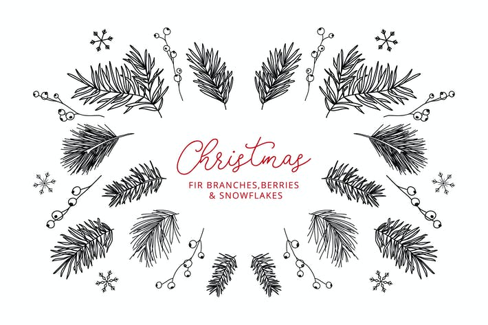Thumbnail for 13 Winter Elements – Doodle Line Icons