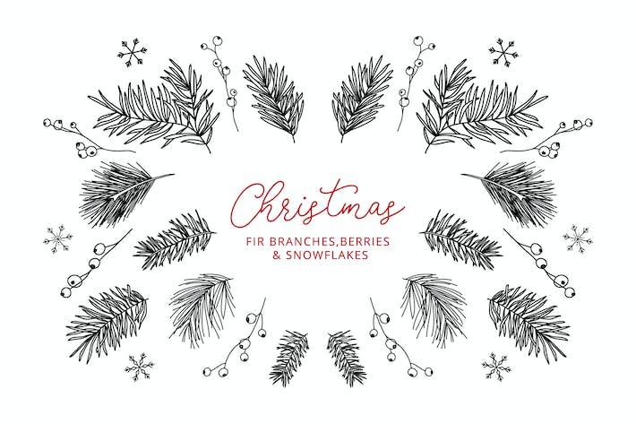 Thumbnail for 13 Elementos de invierno — Doodle Line Íconos