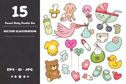 Kawaii Baby Doodle Set