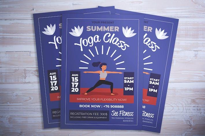 Thumbnail for Summer Yoga Class Flyer