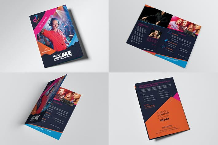 Thumbnail for DJ/ A5 Brochure Template 02