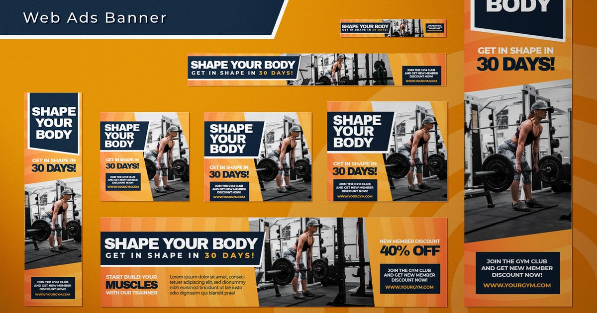 Download Sport Center Promotion - Web Ads Banners by SlideFactory