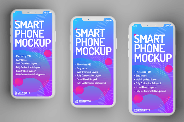 Smartphone Display – Mockup Template - product preview 0