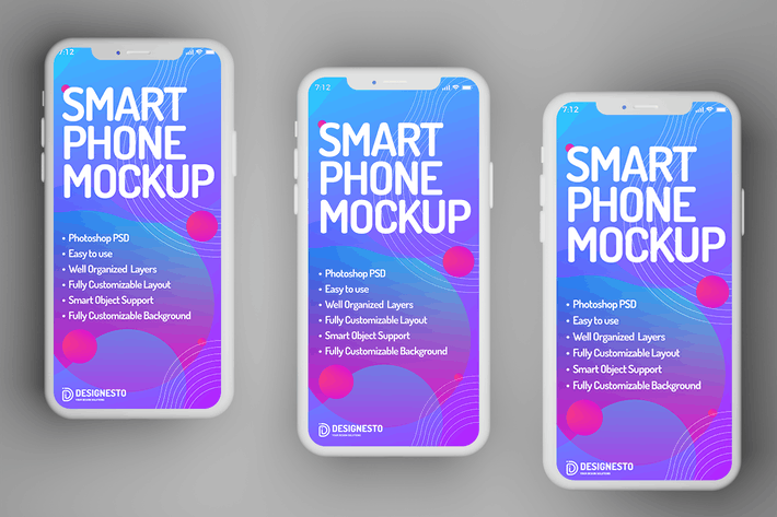 Smartphone-Display — Mockup-Vorlage