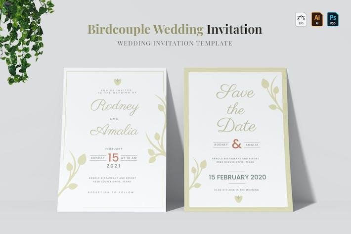 Thumbnail for Bridcouple   Wedding Invitation