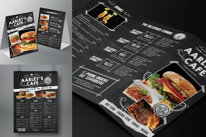 Thumbnail for Blackboard Food Menu Bundle