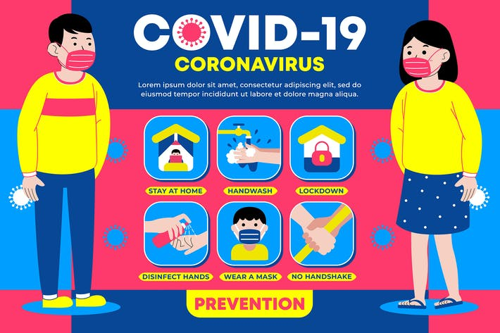 Thumbnail for Covid-19 (Coronavirus) Prevention Infographic