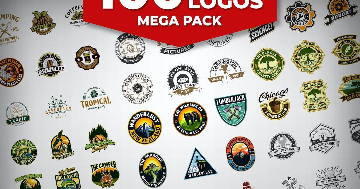Download 100 Badge Logos Mega Pack by Suhandi