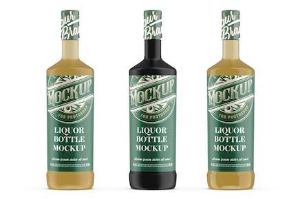 Liquor Glass Bottle Mockup