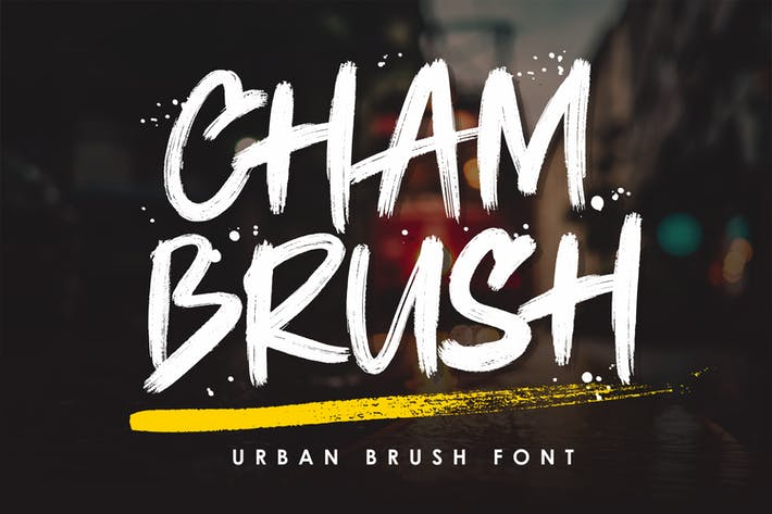 Chambrush - шрифт городской