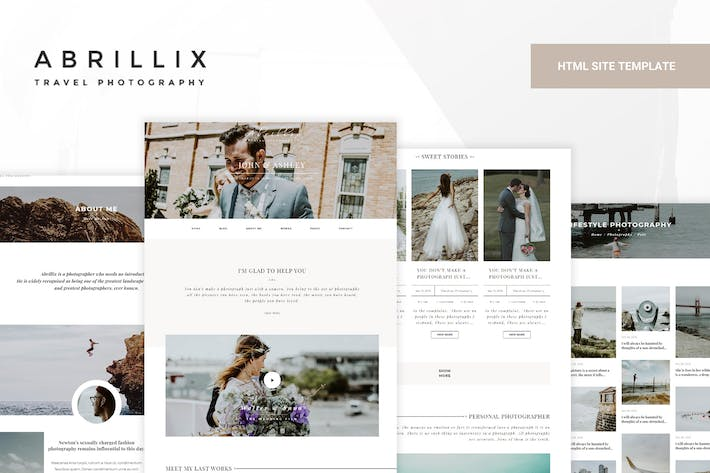 Thumbnail for ABRILLIX - Creative Photography Blog Template
