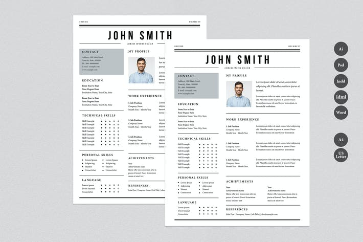 Thumbnail for Newspaper Style Resume Template