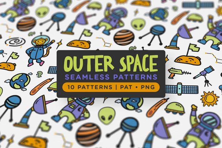 Thumbnail for Outer Space Seamless Patterns