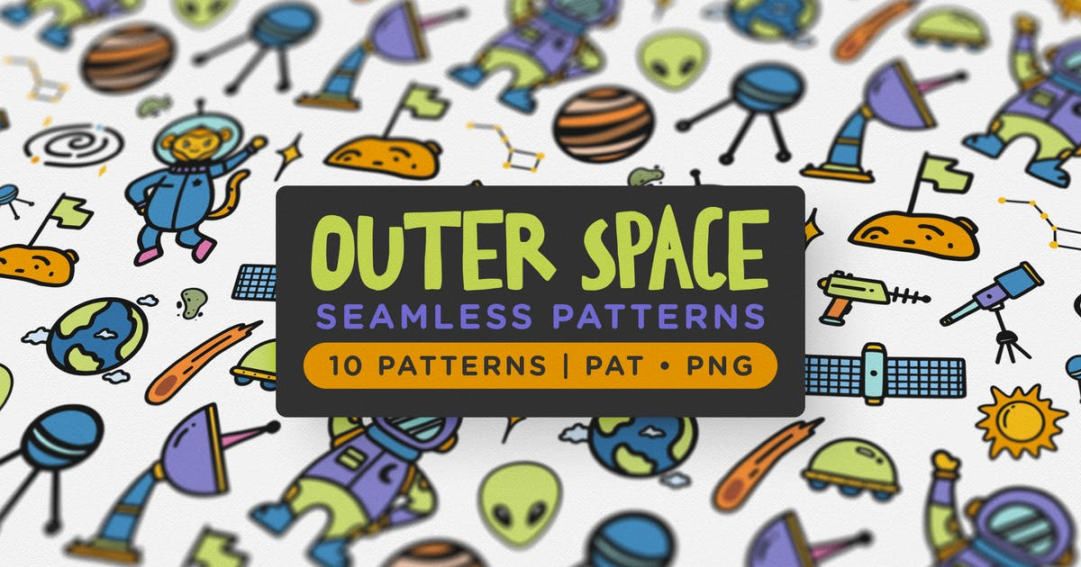 Download Outer Space Seamless Patterns by telllu
