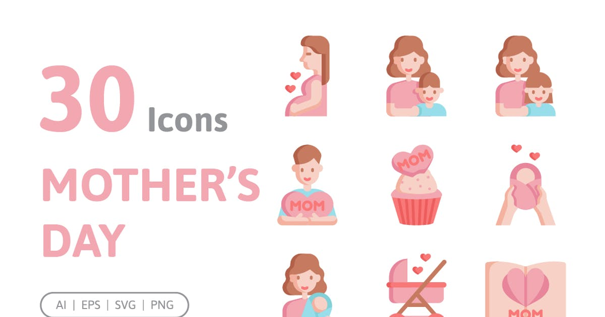Download 30 Mother's Day Icons by konkapp