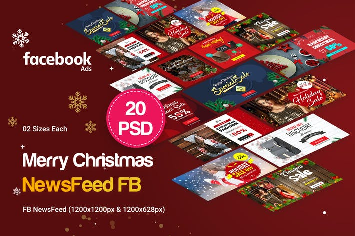 Thumbnail for NewsFeed Holiday Sale, Merry Christmas FB NewsFeed