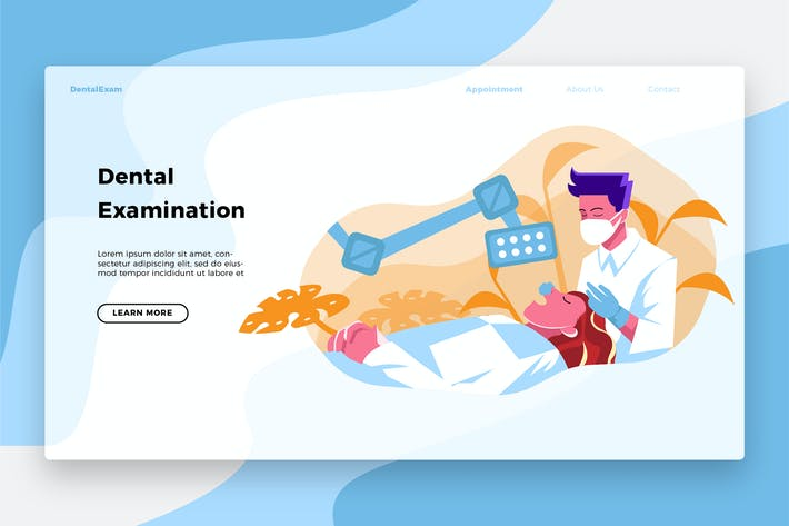 Thumbnail for Dentists Exams - Banner & Landing Page