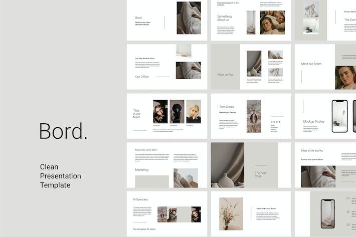 Thumbnail for BORD - Keynote Clean Vorlage Präsentation