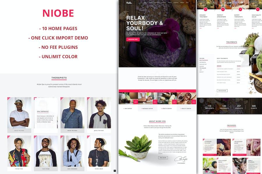 Niobe - Spa & Salon WordPress Thema