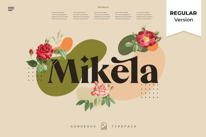 Thumbnail for Mikela Regular - Gorgeous Tipos de letra
