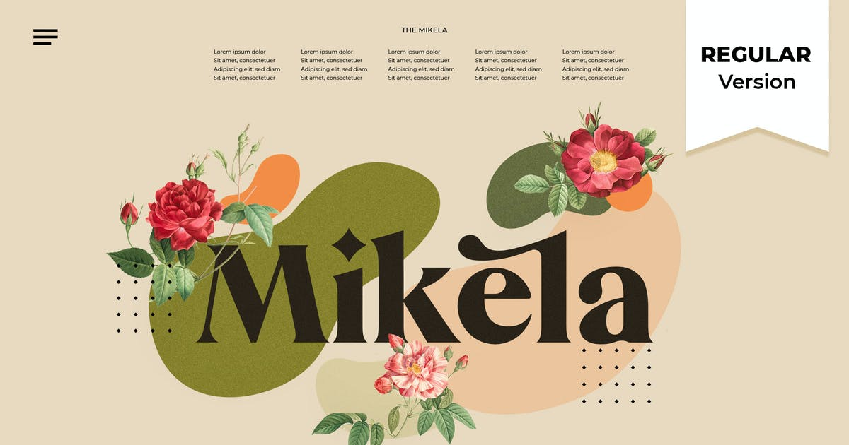 Download Mikela Regular - Gorgeous Typefaces by NEWFLIX