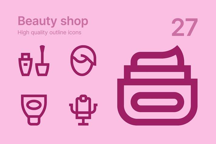 Thumbnail for Beauty shop icons