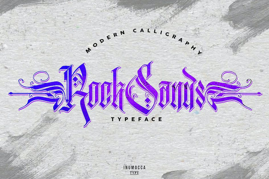 Download RockSands Typeface by inumocca