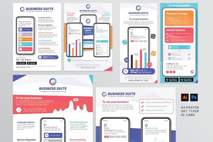 Thumbnail for Mobile App Flyer Templates