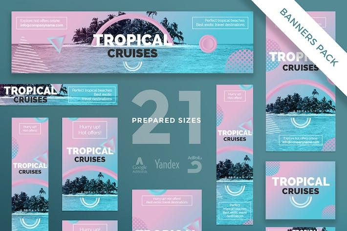 Thumbnail for Travel Agency Banner Pack Template