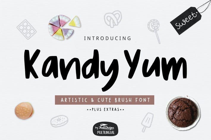 Thumbnail for Kandy Yum Font
