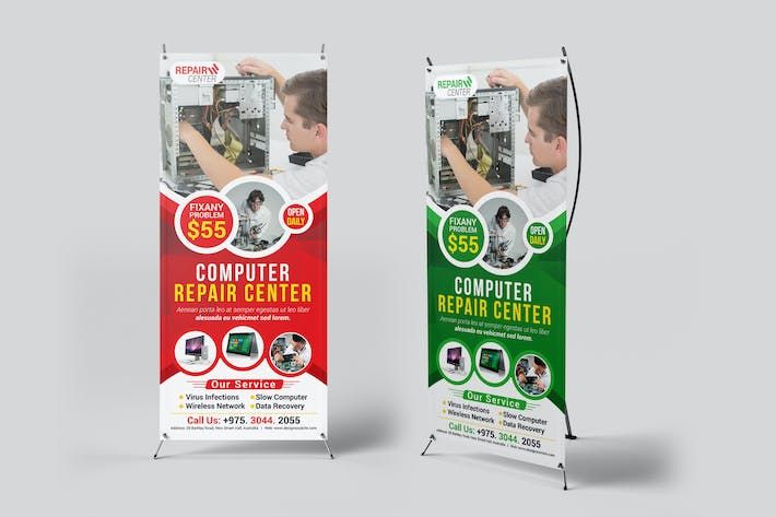 Thumbnail for Computer Repair Rollup Banner