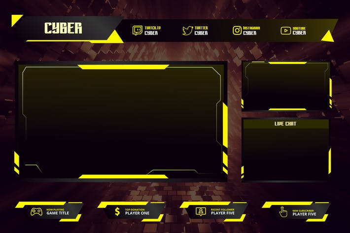 Cyber - Twitch Overlay Template