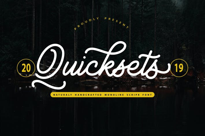 Thumbnail for QuickSets | Handcrafted Monoline Script