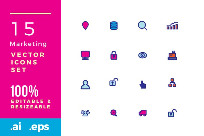 Thumbnail for 15 Marketing vector icons
