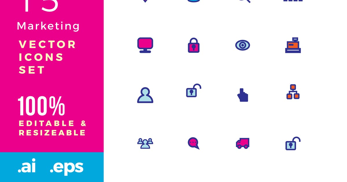 Download 15 Marketing vector icons by Unknow