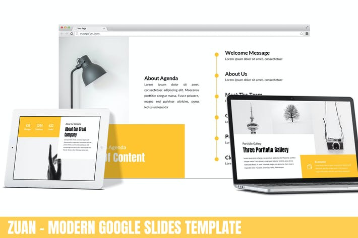 Thumbnail for Zuan - Modern Google Slides Template