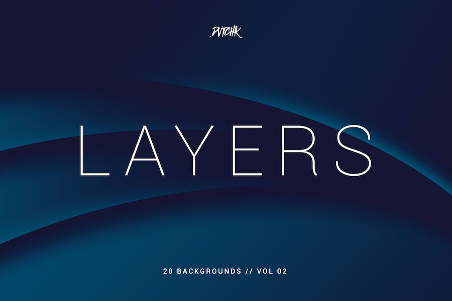Layers | Wavy Curves Backgrounds | Vol. 02