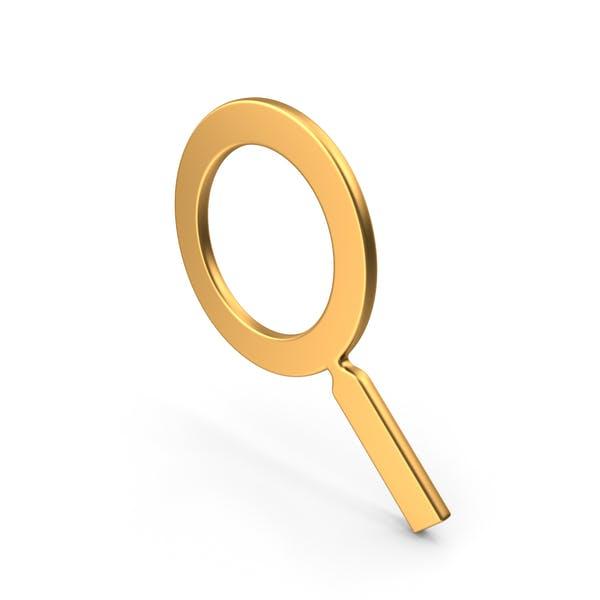 Magnifier Symbol Gold