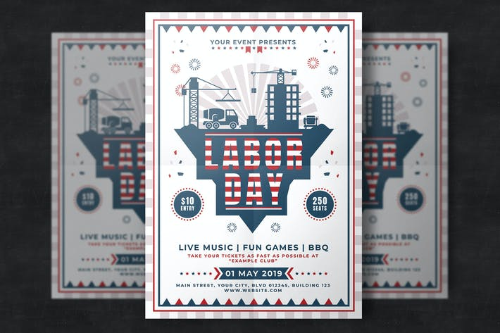 Thumbnail for Labor Day Flyer Template