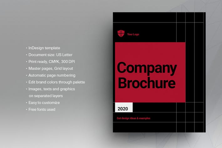 Thumbnail for Black and Red Brochure Template