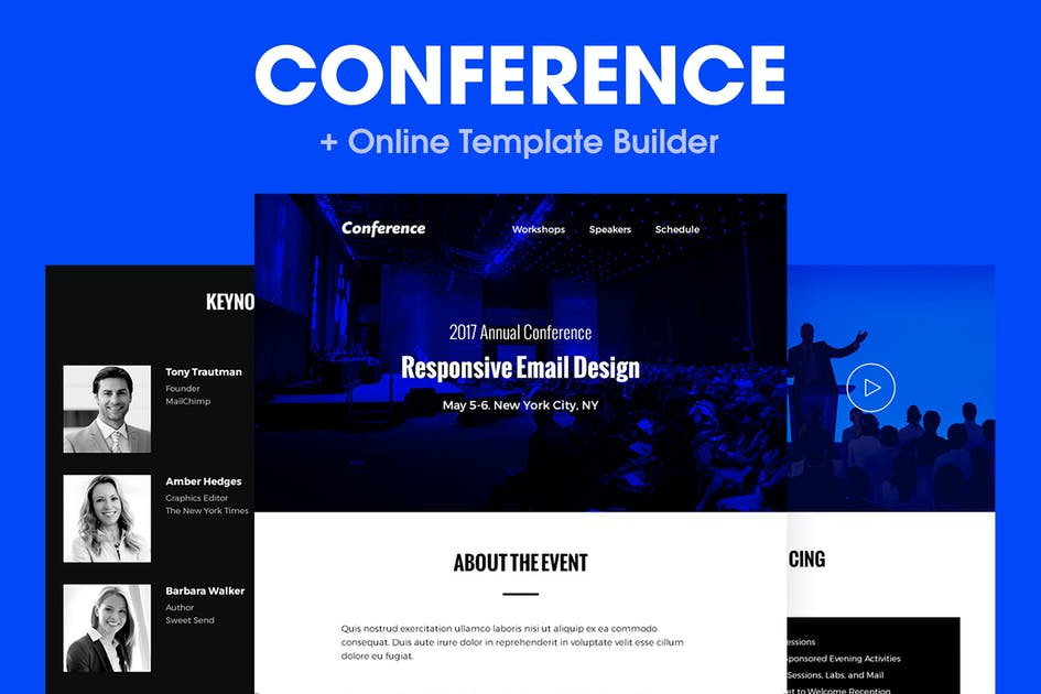 Download Conference - Responsive Email Template by HyperPix