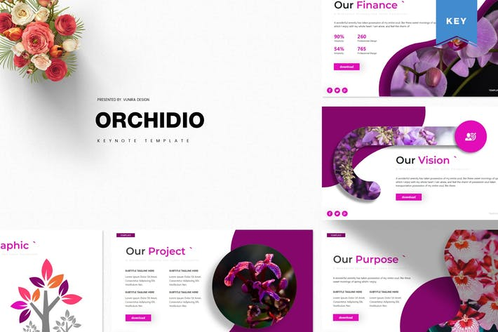 Thumbnail for Orchidio | Keynote Template
