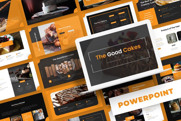 Thumbnail for Good Cakes - Powerpoint Template