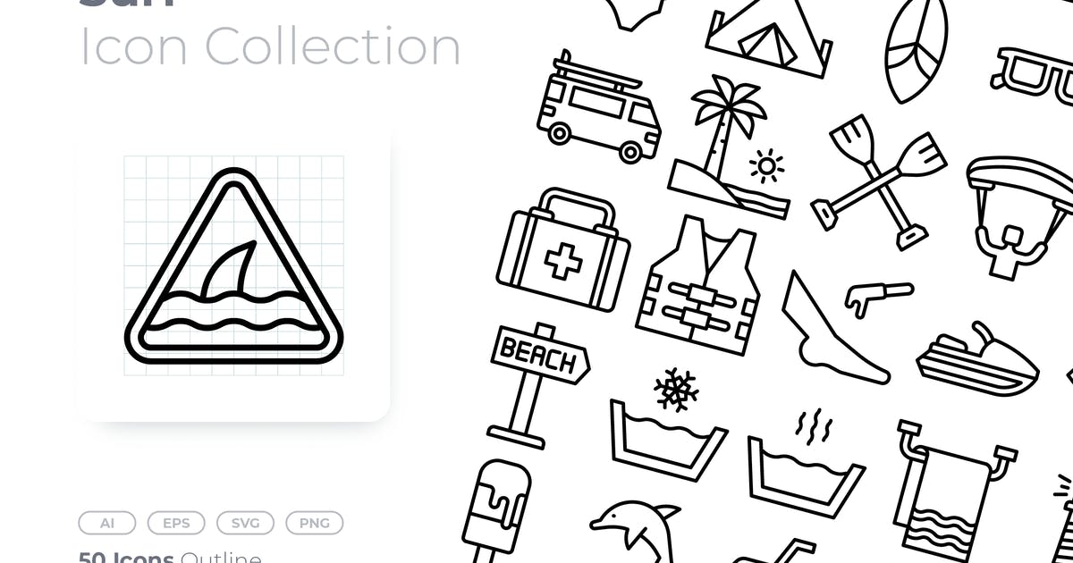 Download Surf Outline Icon by GoodWare_Std