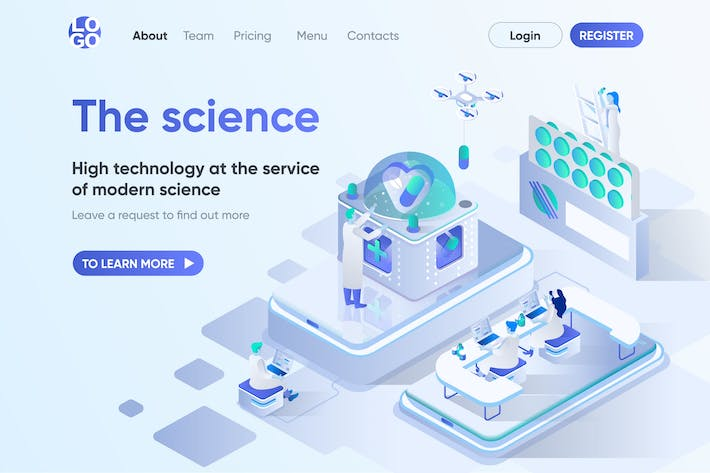 Thumbnail for Science Isometric Concept Landing Page