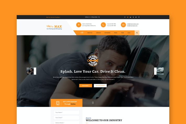 car window tinting wrapping psd template by themewisdom on envato