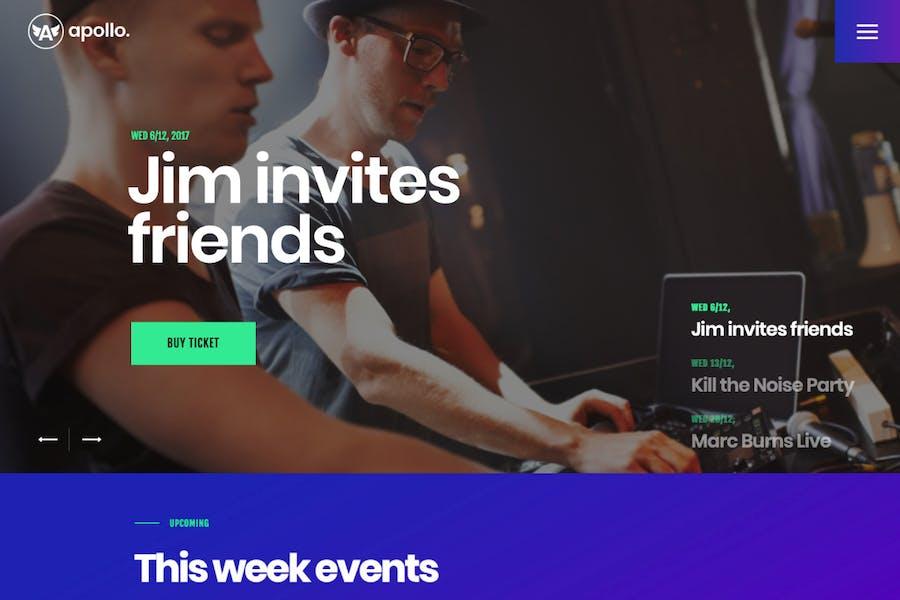 Apollo | Night Club, DJ Concert & Music Event WP