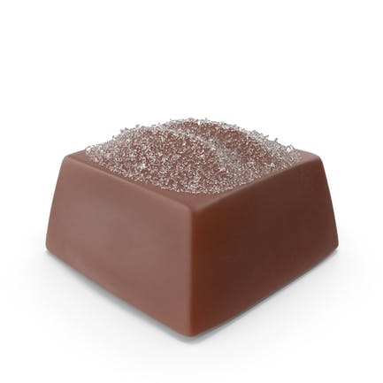 Square Chocolate Candy with Sugar